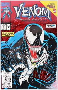 SIGNED VENOM LETHAL PROTECTOR #1 COMIC WITH COA