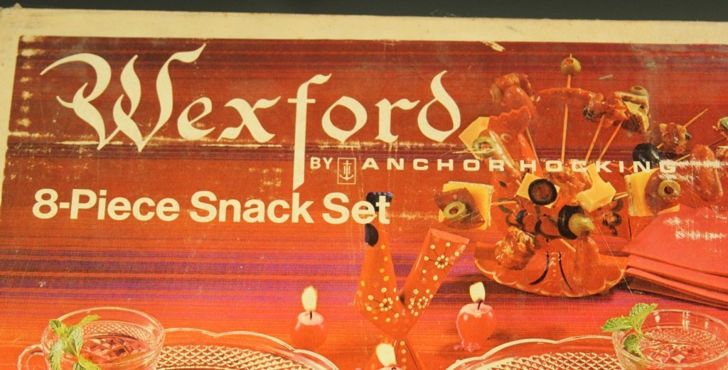 ANCHOR HOCKING WEXFORD 8 PIECE SNACK SET IN BOX - 2