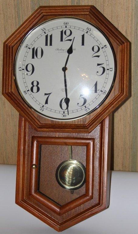 STERLING & NOBLE PENDULUM WALL CLOCK