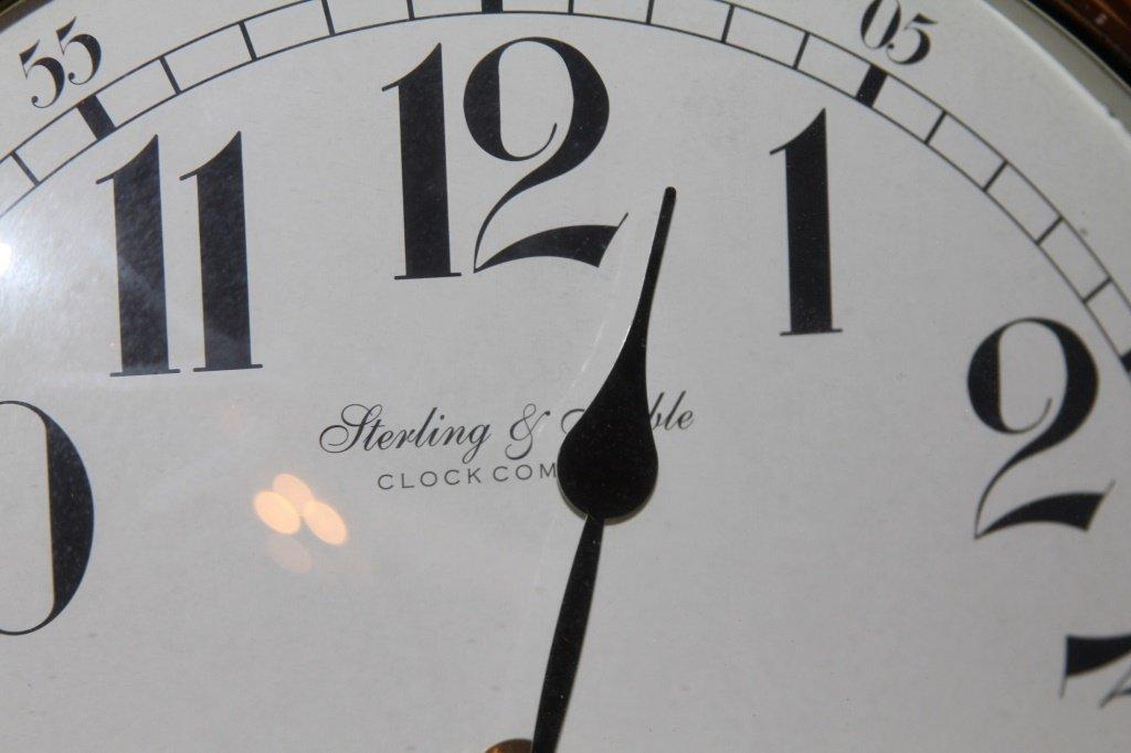 STERLING & NOBLE PENDULUM WALL CLOCK - 2