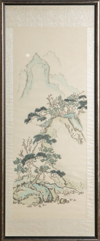 CHINESE PAINTED LANDSCAPE SCROLL