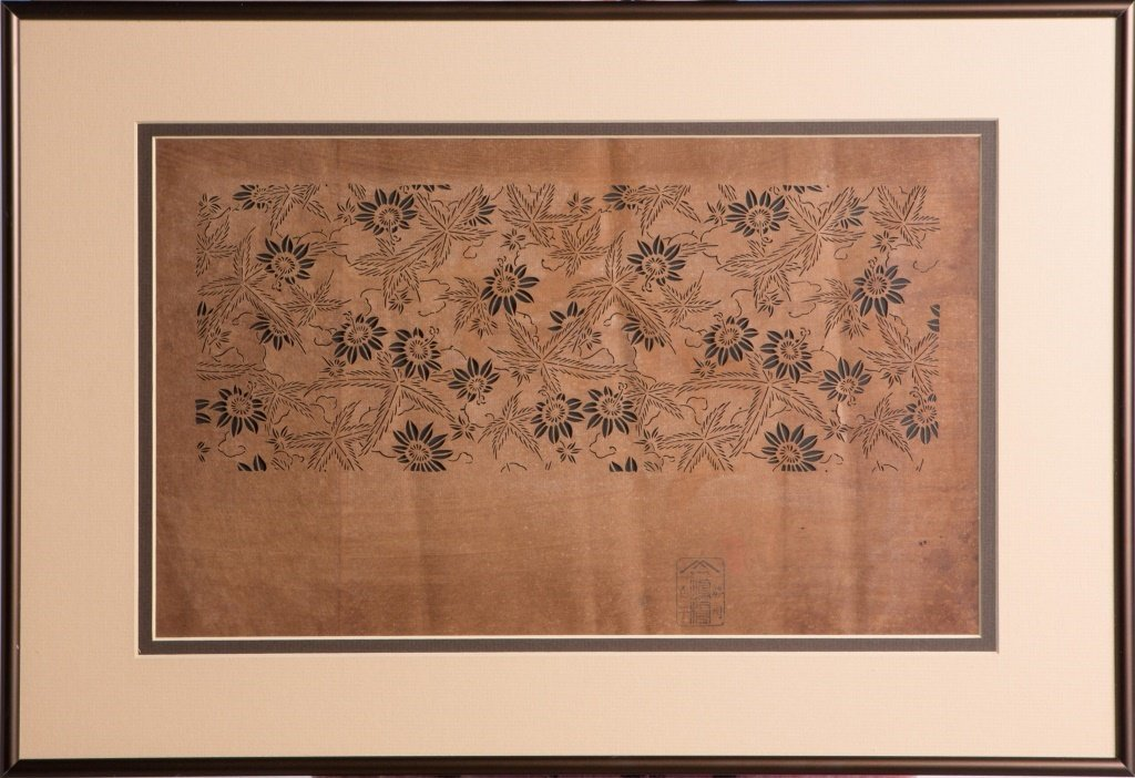 FRAMED CHINESE CUT PAPER FLOWERS