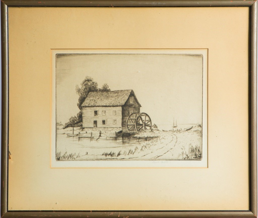 LOWELL STANLEY BOBLETER MINNESOTA DRYPOINT ETCHING