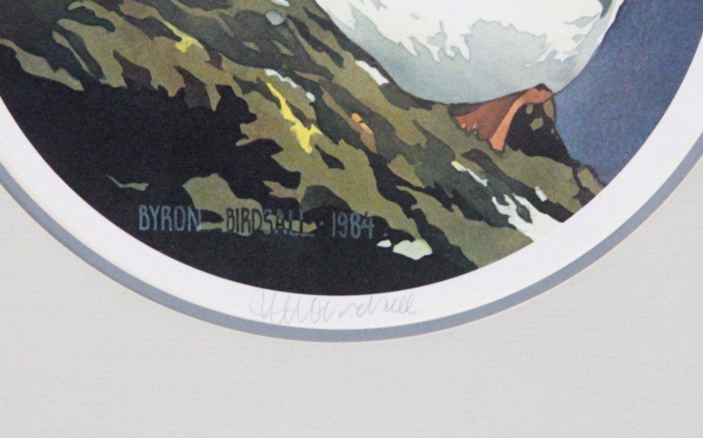 BYRON BIRDSALL PUFFIN WATERCOLOR LITHOGRAPH - 2