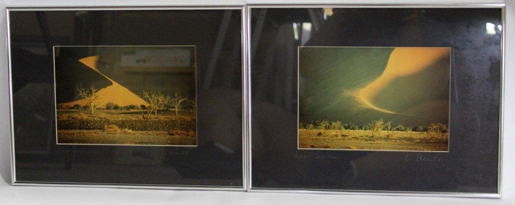 (2) FRAMED DESERT PHOTOS NAMIBIA LANDSCAPE
