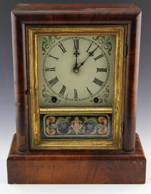 NEW HAVEN 8 DAY COTTAGE CLOCK 19TH CENTURY
