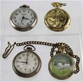 4 MENS POCKET WATCHES