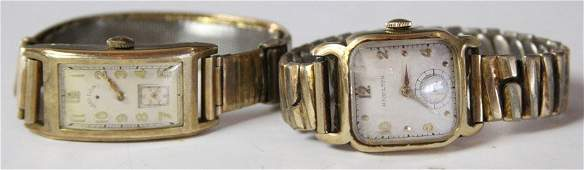 PAIR OF MENS GF WRISTWATCHES