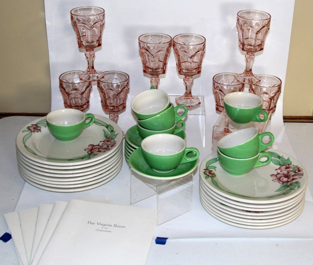RHODODENDRON CHINA & FOSTORIA OF GREENBRIER HOTEL