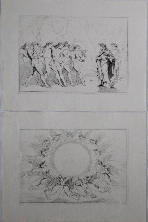 (2) BARTOLOMEO PINELLI DANTE INSPIRED ENGRAVINGS