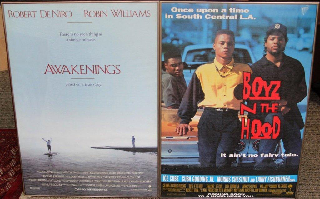 (2) MOVIE POSTERS BOYZ N THE HOOD & AWAKENINGS
