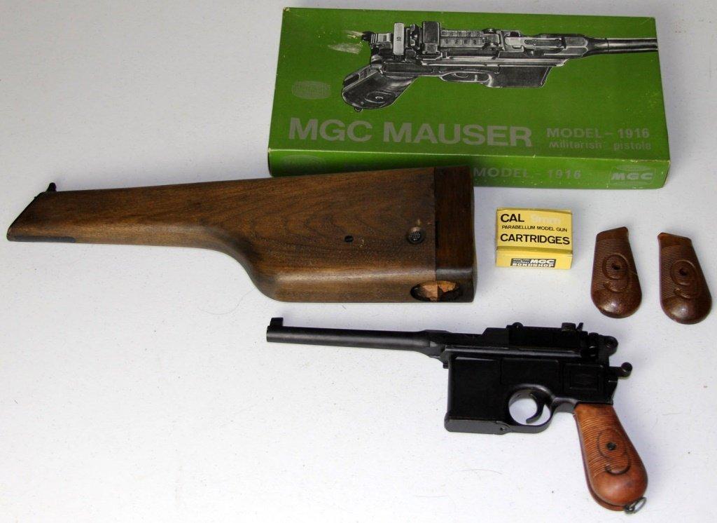 MGC MAUSER BROOMHANDLE M1916 MODEL GUN