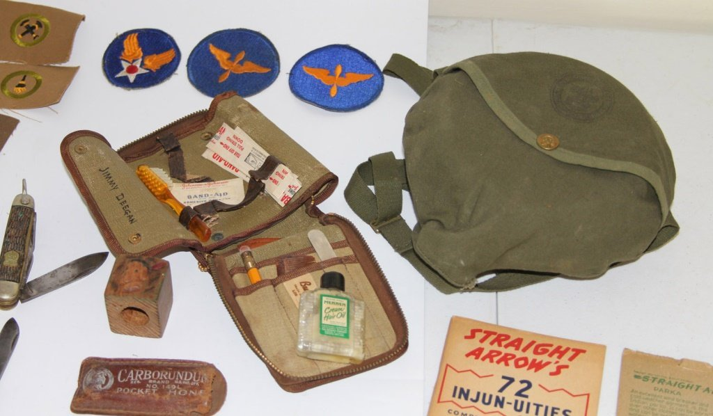 VINTAGE BOY SCOUT BSA LOT + WWII MILITARY PATCHES - 9
