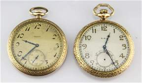 2 ELGIN GOLD FILLED POCKETWATCHES