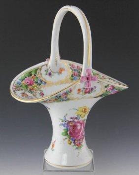 Dresden Porcelain Basket