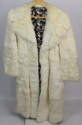 Full Length White Rabbit Coat