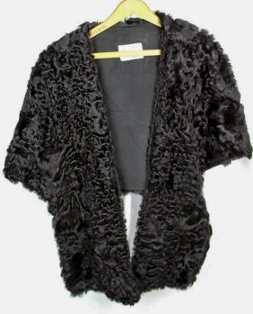 I.r. Fox Ladies Persian Lamb Hide Stole