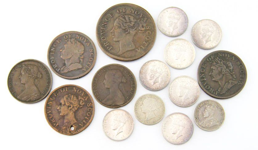 LATE 19TH EARLY 20TH MIXED CANADIAN PROVINCE COINS