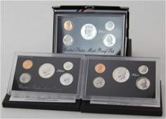 3 1992  1994 US SILVER MINT PROOF SETS
