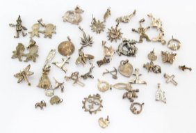 Mixed Lot Of Sterling Silver Charms & Pendants