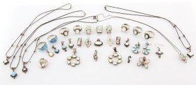 Mixed Ladies Sterling Silver & Opal Jewelry
