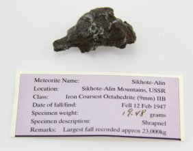 Meteorite From Sikhote-alin Mountains 9mm 19.48g