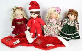 Lot Of Four Precious Moments Dolls