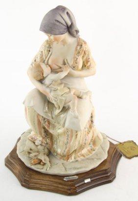 Giuseppe Armani Mother Breast Feeding Figurine