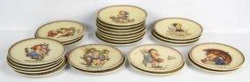 Lot Of 25 Hummel Porcelain Plates 1971-1995