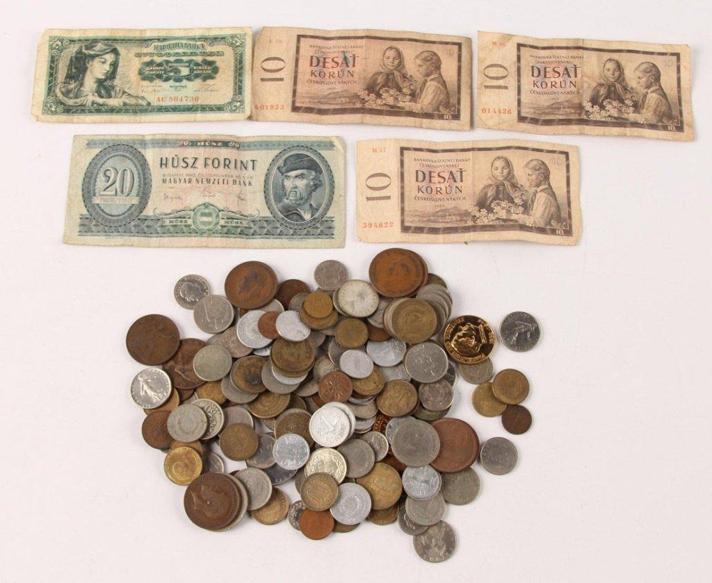 MIXED BONANZA LOT WORLD COIN & CURRENCY