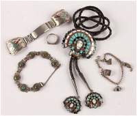 MIXED LOT OF STERLING SILVER JEWELRY PIECES