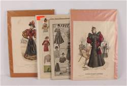 MIXED LOT OF UNFRAMED EARLY 20TH C FASHION POSTERS