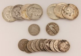 Lot Of 20 Mixed Us 90% Silver Coins