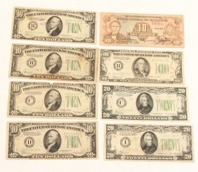 Us 1934 & 1934a Federal Reserve Notes