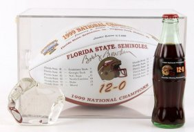 Bobby Bowden Signed 1999 Fsu Football And More