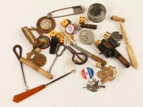 Lot | Military Medals, Political, Carved Bone +