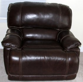 Powered Leather Oversize Recliner