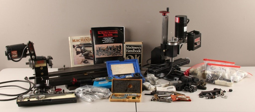 SHERLINE MODEL 4000 LATHE & EXTENSIVE ACCESSORIES