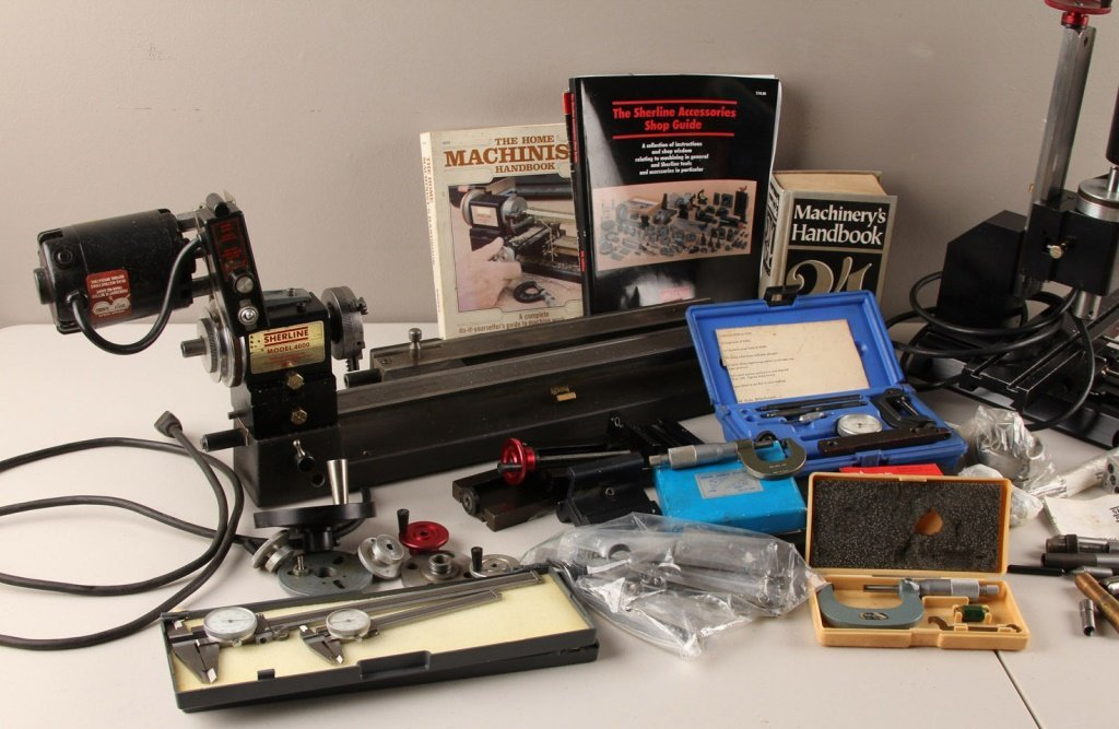 SHERLINE MODEL 4000 LATHE & EXTENSIVE ACCESSORIES - 2