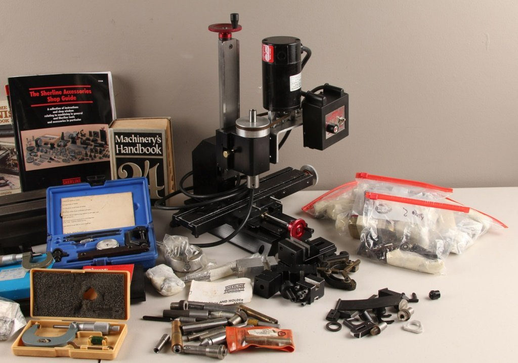 SHERLINE MODEL 4000 LATHE & EXTENSIVE ACCESSORIES - 3