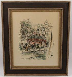 John Haymson Colonial Court Print Framed