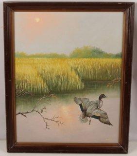 Johnny Daniels Florida Highwaymen Oil On Canvas