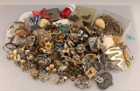 Mixed Lot Of Estate Costume Jewelry & More