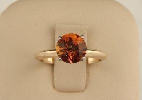 14k Yellow Gold Orange Mystic Topaz Ring