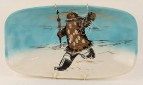 Hand Painted Eskimo Plate