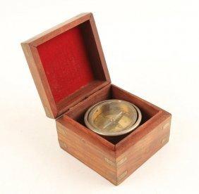 20th Century Binnacle In A Wooden Box