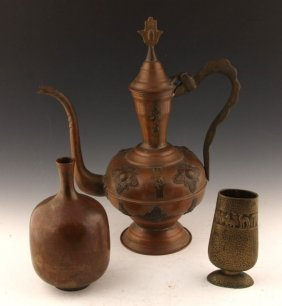 Copper & Brass | Teapot, Vase, Cup