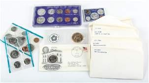 12 MOSTLY US UNC MINT SETS  COMMEMORATIVE COINS