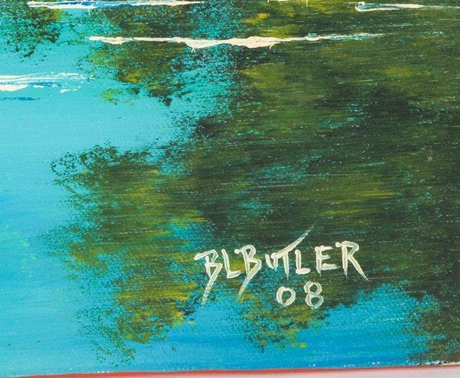 B.L BUTLER FLORIDA WETLANDS OIL ON CANVAS - 3