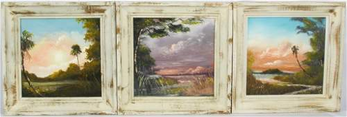 LOT OF HORACE FOSTER FLORIDA SCENES OIL ON BOARD